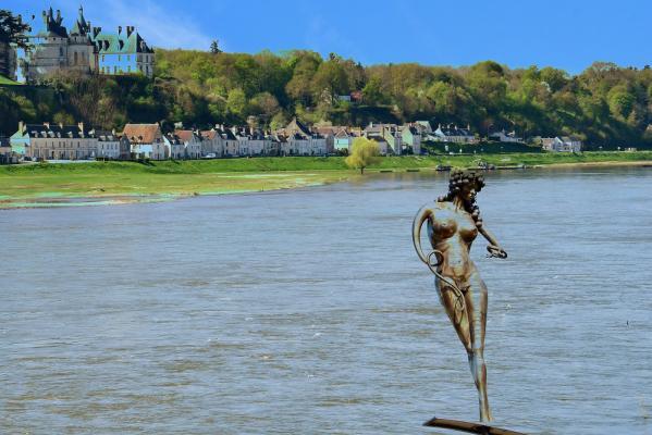 Alain Hervet - Statue meslandes surfe sur la loire